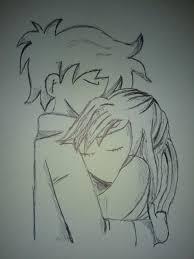 cute cartoon sketches of boy and cartoon and boy hugging
