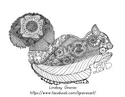 version 1 sophisticated squirrel coloring page by lindsaygraves on