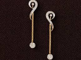 dangling earrings chain dangling earrings 14k yellow gold and discovered