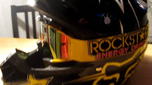 motocross helmet rockstar my new fox v1 rockstar helmet youtube