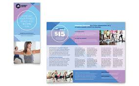 gym brochure templates trifold nutrition and health brochure