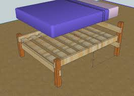 Simple Platform Bed Frame Diy by Best 25 Simple Wood Bed Frame Ideas On Pinterest Headboards For