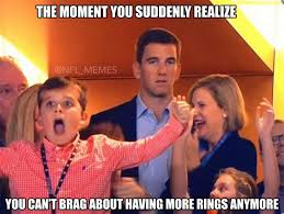 Peyton Superbowl Meme - eli and peyton now have two rings each super bowl 50 know your meme