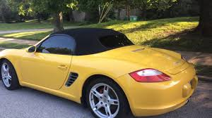 yellow porsche boxster 2005 porsche boxster s speed yellow walk around youtube