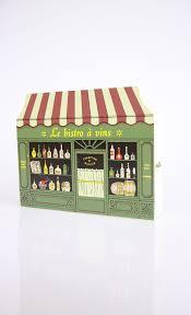 Wine Cellar Bistro - french wine shop key cabinet vintage wooden key hanger box wine