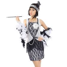 halloween costume flapper 1920s retro sequined lace charleston gatsby flapper fancy