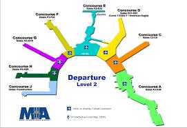 miami airport terminal map terminal map