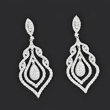 diamond chandelier earrings diamond drop chandelier earrings 5 10ct 18k gold