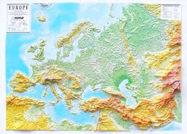 Europe Map by 3d Relief Panorama Europe Map 3d Europe Continents 3d Raised