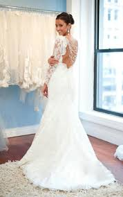long illusion sleeve bridal dresses long sleeved wedding gown