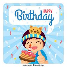 imagenes de pasteles que digan feliz cumpleaños tarjeta de feliz cumpleaños de chico con un pastel descargar