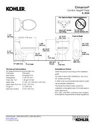 Bathroom Design Dimensions by Bathroom Cozy Kohler Cimarron Toilet And Sinks For Your Bathroom
