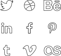 65 free vector psd social media outline icons free u0026 premium