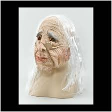 scary old woman halloween mask mad about horror