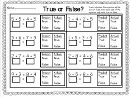 true or false equations first grade google search common core