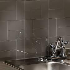 kitchen backsplash tile patterns aspect backsplash 3x6 glass tile in leather kitchens tile