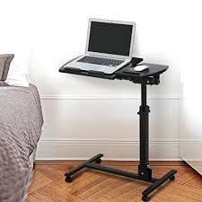 Lockable Desk Langria Laptop Table Mobile Desk Cart Adjustable Laptop Cart