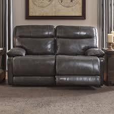 trent austin design gigi leather reclining loveseat u0026 reviews
