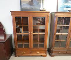 glass door bookcase style a by drexel heritage furniture eastern