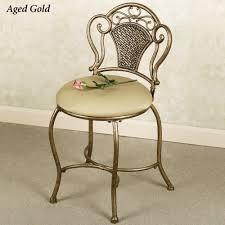 Vanity Stool On Wheels Gold And White Vanity Stool Home Vanity Decoration