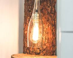 rustic floor lamp etsy