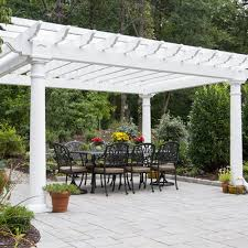 White Vinyl Pergola Kits by Artisan Vinyl Pergolas Country Lane Gazebos