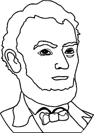 abraham lincoln president line coloring page wecoloringpage