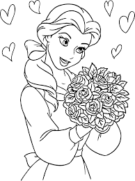 disney princess flowers coloring pages wecoloringpage