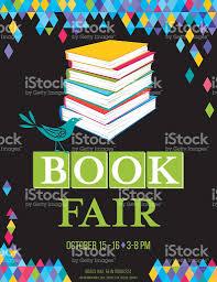 bright childrens book fair poster template stock vector art