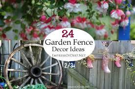 Garden Fence Decor The Top 10 Best Blogs On Garden Art Ideas