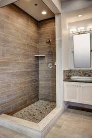 walk in shower makes cleaning easy and no glass door to clean