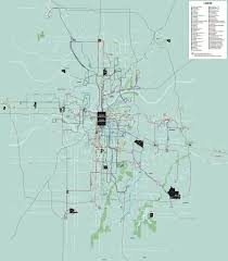 Kansas City Metro Map by Kansas City Metro Bus Maplets