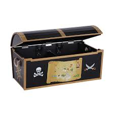 Plans For Child S Wooden Toy Box by Amazon Com Guidecraft Hand Painted Pirate Treasure Chest G83705 Baby