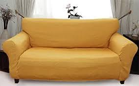 sofa hussen stretch de stretch husse gold hussen für sofa 3 sitzer sofahusse