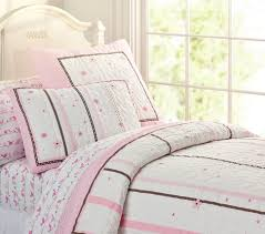 Girls Quilted Bedding by Hannah Ribbon Quilt Pottery Barn Kids