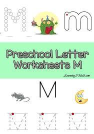 letter m preschool worksheets preschool letter worksheets