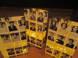 50th high school reunion ideas 5 yearbook luminaries reunion decor custom made from your