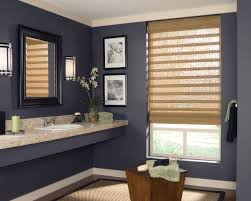 provenance woven wood shades with standard clutch in the bathroom