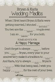 Wedding Mad Lib Template Wedding Mad Libs Printables Unique Guest By Totallyloveitdesigns