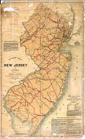 Map Of New York And Pennsylvania by New Jersey Historical Maps