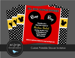 baby mickey invitations mickey mouse baby shower invitations blueklip com