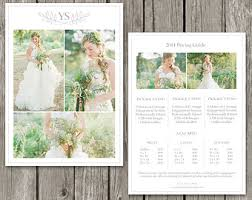 wedding photographer prices photography template price guide for senior portrait