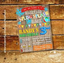 Backyard Birthday Party Invitations Best 25 Splash Party Ideas On Pinterest Water Birthday Parties