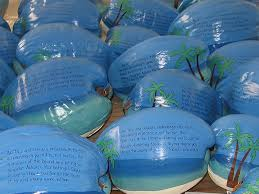 island themed wedding painted coconut invitations and announcements