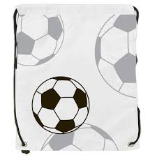 northpeak opaque drawstring backpack with soccer sketch printing