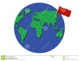 China On The World Map by World Globe China Flag Stock Photos Image 4851203