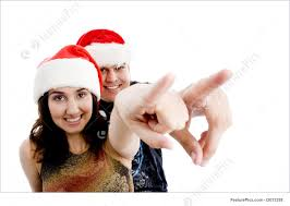 people couple with christmas hat stock picture i2013238 at