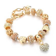 gold hearts charm bracelet images Crystal heart charm bracelet jpg