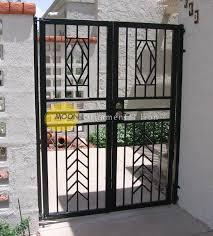 custom wrought iron courtyard gates glendale by moon ornamental