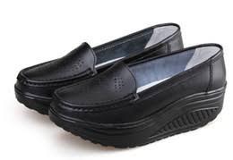 Platform Heels Comfort White Wedge Nurses Shoes Suppliers Best White Wedge Nurses Shoes